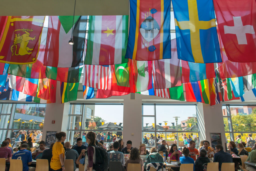Photo of Commons with flags