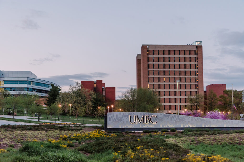 photo of UMBC entrance and Administration building